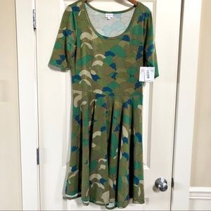 BNWT LuLaRoe Nicole dress in camouflage print